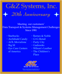 G&Z Systems' 20th Anniversary